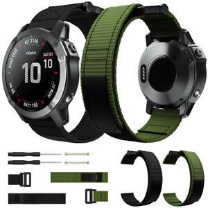 For Garmin Fenix 5 5X Plus 6 6X Pro / Fenix 3 HR Band Military Nylon Watch Strap