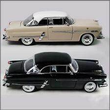 TWO WELLY 1953 FORD VICTORIA 1/24 DIECAST MODEL CAR UN-BOXED, CREAM & BLACK.