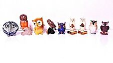 9 Piece Lot:  Assorted Collectible Owls - Some Vintage, Niagra Falls, S&P++ 2535