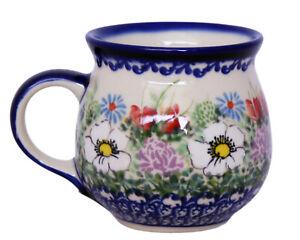 Polish Pottery Stoneware 10oz UNIKAT bubble Mug (305-u629) Kalich Ophelia