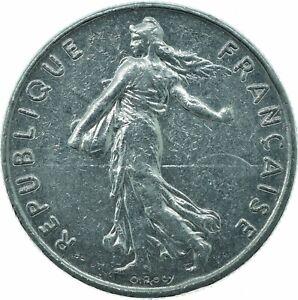 COIN / FRANCE / 1/2 FRANC 1976   #WT22792