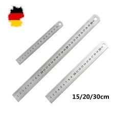 3Stk Stahllineal Stahlmaßstab Metalllineal Lineal Werkstattlineal 15/20/30cm