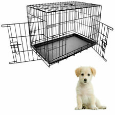 Pet Cage  30 Inches Dog Puppy Cat Training Crate Carrier Heavy duty Folding