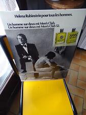PLV GLACOIDE PARFUM COLOGNE MEN'S CLUB RUBINSTEIN 1972 52 PUBLICITAIRE
