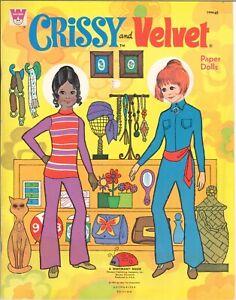 VINTG 1971 CRISSY VELVET Paper Doll UNCUT LASR REPRODUCTON NO1 BEST SELR FREES&H