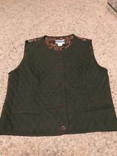 Pendleton Womans  Size 6 Green Button Vest