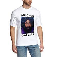Jerry Garcia Grateful Dead Muchos Garcias Tshirt White Tee New Men's T-Shirt