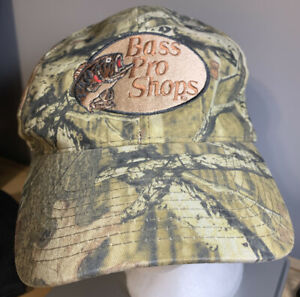 Vintage Redhead Bass Pro Shops Camo Hunting Fishing Adjustable Strapback Hat