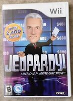 Jeopardy - Nintendo Wii 2010 - complete with manual Very Good Condition