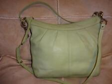 COACH SOHO ~ Mint Green Pleated Leather Large Convertible Hobo X-Body Bag #13764