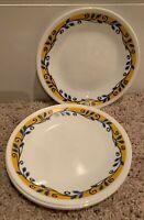 "Corning Corelle CASA FLORA 6 3/4"" Bread  Plates Set(s) of 4"