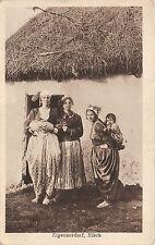 Sinti und Roma Frauen mit Kinder in Nisch Postkarte