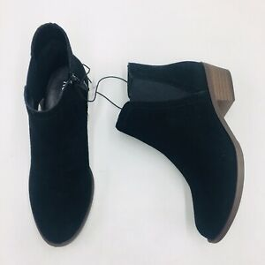 Kensie Women's Gazelle Suede Ankle Boots, Black  NEW