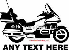 Honda Goldwing GL 1500 1800 Touring Motorcycle car window STICKER DECAL