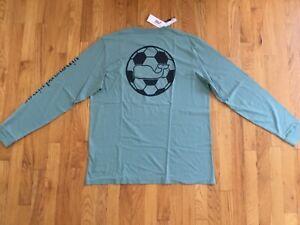 NWT Men's Vineyard Vines Soccer Whale Dot Long-Sleeve Pocket T-Shirt Size M Or L