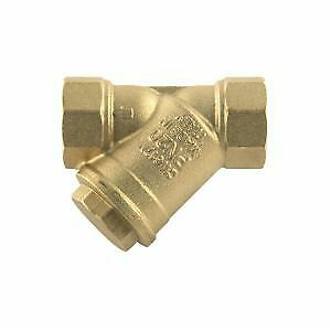 "1 x New Y In-line Strainer Brass - 1/4"" BSP PF,Freepost, UK Seller"