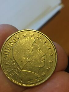 Moneta da 50 centesimi di euro - Lussemburgo - 2003  RARA - circolata