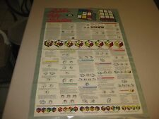 "Vintage Rubik's Cube Poster 34"" x 23"" (approx.) (RARE)"