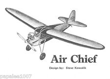 "Model Airplane Plans (FF-RC): Vintage Air Chief 61"" for Brown Jr. (Ideal - 1936)"