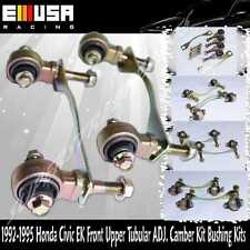FRONT UPPER CAMBER CONTROL BUSHING REPLACE KIT/ARM FIT 92-95 CIVIC EG/-01 DB DC2