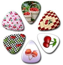 6 Cherrys ~ Guitar Picks ~ Plectrums Printed Both Sides