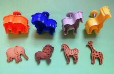 3D Safari Animals Hand Press with stamp biscuit cookie cutter set