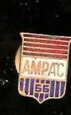 Vintage AMPAC 66 Goldplated enamel Mini Badge tacpin