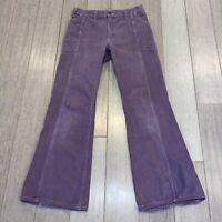 Vtg 60s 70s Bell Bottom Pants Mens 30 28 Lee M.R. Flare Leg Disco Hippie Purple