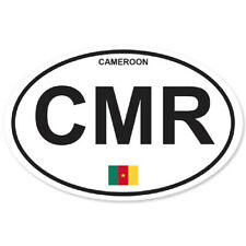 CAMEROON COUNTRY OVAL BUMPER STICKER OVAL 120mm x 78mm