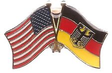 Lot Of 3 Germany w/Eagle Friendship Flag Lapel Pins - German Crossed Flag Pin
