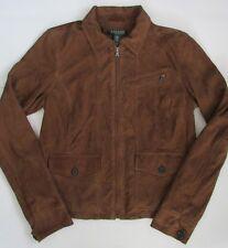 NWT Lauren Ralph Lauren Zip-Up Suede Goat Leather Jacket Size 6P Retail 698$