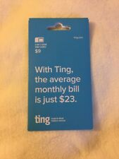 Ting 3 In 1 GSM SIM Card $9