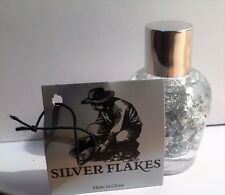 50 mm Tall Bottle of Silver Flakes Great for display or Gift