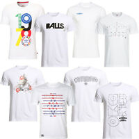 Umbro Graphic Print Mens Crew Neck White Short Sleeves Tee T-shirt