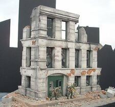 "Dioramas Plus 1/35 ""Government Ruins"" Ruined 3-Story German Building Section DP2"