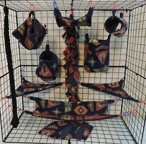 Marval* 15 PC Sugar Glider Cage set * Rat * double layer Fleece