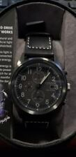 Citizen Eco-Drive CA0627-09H Men's Gray Dial Black Leather Chrono Watch