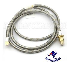 Rinnai 3mtr Stainless Steel Braided Gas Hose 3/8 BSP With Bayonet Coupling