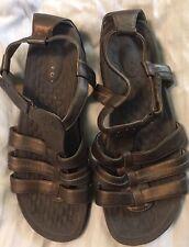 PRIVO by CLARKS Size 10M Bronze Strappy Sandals Ankle Strap Gladiator Flatform