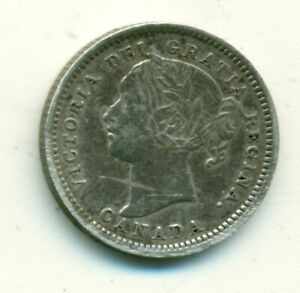 Canada 10 cents 1901 VF+