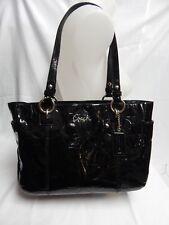 Coach F17728 Gallery Patent Leather Black Purse (B)