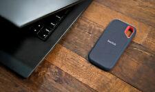 FLASH SALE! 2TB SanDisk Extreme Portable SSD USB-C 3.1 External- Water Resistant