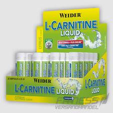 (63,18�'�/L) Weider L-Carnitine Liquid 20 Ampullen