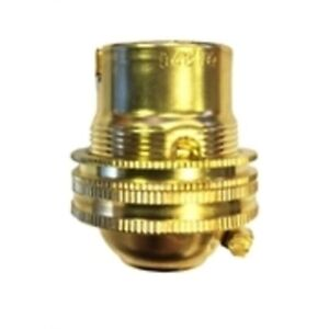 Brass unswitched Lamp holder light table floor fitting SBC Small Bayonet B15