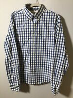 abercrombie and fitch Mens Checkered Button Shirt Size M Muscle Fit Long Sleeve