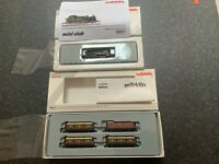 Marklin spur z scale/gauge KPEV Steam Locomotive & 4 Passenger Car Set. New.MHI.