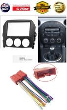 Harness + Fascia facia Mazda MX5 MX-5 MX 5 2005-2009 Double 2 Din dash panel kit