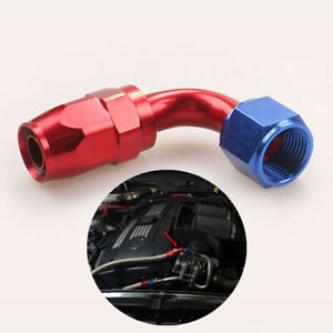 90 Degree AN10 Oil Gas Fuel Line Fittings Adapter Aluminum 10 AN Hose Connector