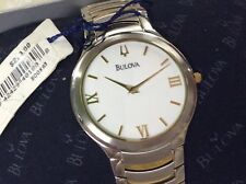 Bulova Classic Collection Two-Tone Gold Stainless Round Case Men's Watch 98A59