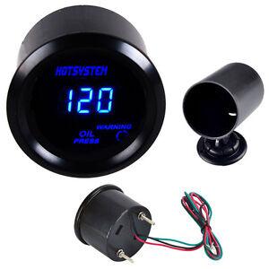 New Car 52mm Digital LED Electronic Oil Pressure Gauge with Holder HOTSYSTEM